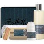 Bath House Bergamot & Amber sprchový gel 260 ml + mýdlo 150 g + deodorant 50 ml + kartáček + ručník dárková sada