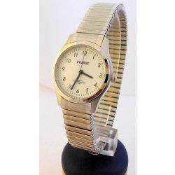 4eb275cfcae Foibos 7285.4. Dámské stříbrné ocelové hodinky Foibos 7285.4 s natahovacím  páskem ...