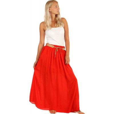 Glara dlouhá sukně s kapsami červená 397877
