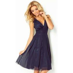 Numoco luxusní dámské společenské a plesové šifonové šaty Kara 355 tmavě  modrá bfd96c1de66