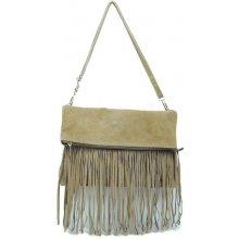 kabelka z brúsenej kože 70 Taupe