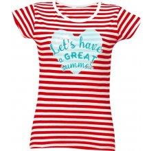 fdc3e0f1c020 T-shock tričko s potiskem Great summer dámské Červená melír