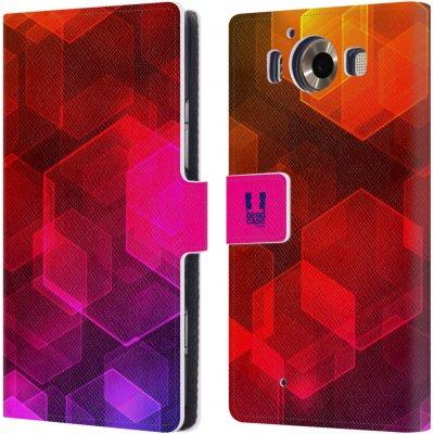 Pouzdro HEAD CASE Microsoft Lumia 950 / LUMIA 950 DUAL SIM BOKEH zářící vzor hexagon růžová