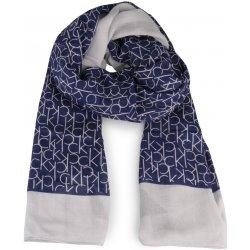 150d1f71634 Calvin Klein Dámský obdélníkový šátek CK Allover tmavě modrá ...