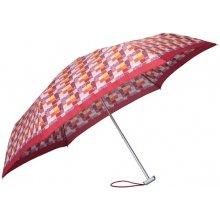 SAMSONITE Deštník Alu pattern skládací mechanický růžový kostkovaný