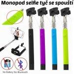 Neven Monopod - teleskopický držiak na selfie tyč se spouští Z07-5S zelena