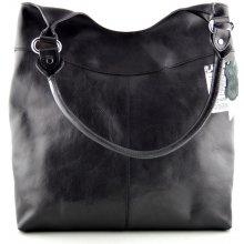 82f5f73e9d Silvercase Sněžka Náchod vysoká kožená kabelka černá