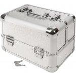 TecTake 401068 Kosmetický kufřík se 4 přihrádkami šedá umělá hmota