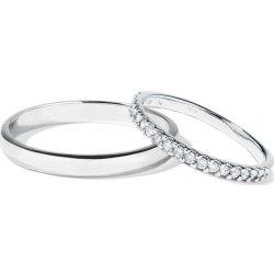 Klenota Snubni Prsteny Z Bileho Zlata A Platiny S Diamanty Wk04782