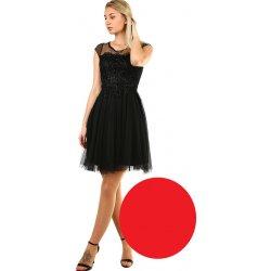 3fb2575fa913 Dámské koktejlové šaty s krajkou 418738 červená od 1 570 Kč - Heureka.cz
