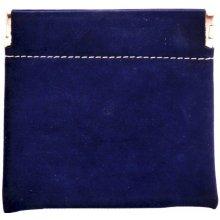 HELLIX koženková klapačka na mince pick pack 830361 modrá