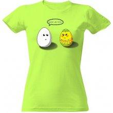 bc97e045bd08 T-shock tričko s potiskem Vypadáš jako... dámské Green apple
