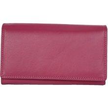 Klasická kvalitní kožená peněženka HMT růžová