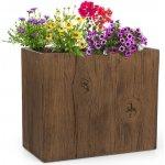 Blumfeldt Timberflor, květináč, 60 x 50 x 30 cm, hnědá barva GDW11-Timberflor6030