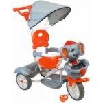 Baby Mix Tříkolka dětská SLON šedo oranžová