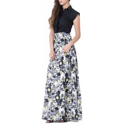 Gianfranco Ferre hedvábná sukně modrá