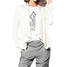 Heine BC dámská bunda se šálovým límcem bílá