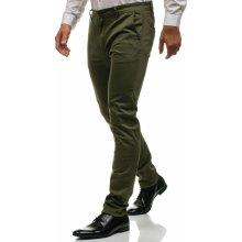 Bolf Zelené pánské chino kalhoty 6807