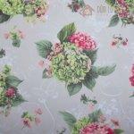 Bavlněné plátno s květinami