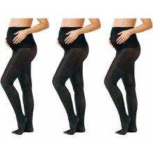 Esmara těhotenské punčochové kalhoty 3 kusy černá