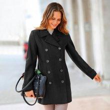 Blancheporte Dámský kabát černá