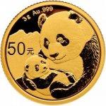 Panda Zlatá mince 3 g 2019