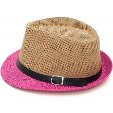 9d9e5c9e940 Art of Polo Letní klobouk dvoubarevný béžovorůžový cz15160.12