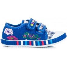 Dětské tenisky s nášivkami modré