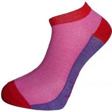 Bambox SNEAKER FUN nízké bambusové ponožky růžová   fialová 2374229832