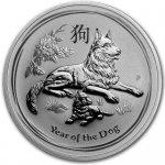 Lunární série II. stříbrná mince 1 AUD Year of the Dog Rok psa 1 Oz 2018