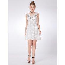 18f73b1d49f Ever-Pretty šifonové puntíkované šaty AS05986WB bílá