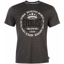Everlast Printed T Shirt Mens Charcoal Marl 1