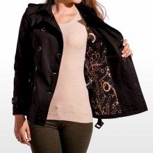 Calzanatta Krátký 660 Dámský kabát černá