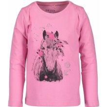 Blue Seven Dívčí tričko s koněm - růžové