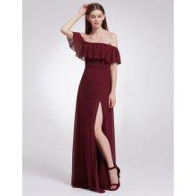 5e4193f2755b od 2 190 Kč · Ever-Pretty šaty dlouhé s volánkem 7171 bordo