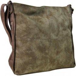 Tapple velká dámská crossbody kabelka H17151 hnědá s khaki nádechem ... bbb491d1abf