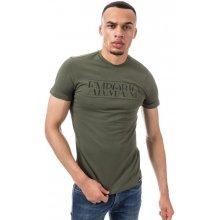 Armani Mens Crew Neck Cotton Stretch T Shirt Green