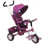 Baby Mix Dětská tříkolka s polstrem Fialová