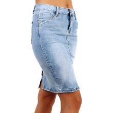63fe0a702e6 TopMode dámská riflová sukně s rozparkem vzadu modrá