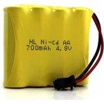 Baterie Ni-Cd 700 mAh 4.8V