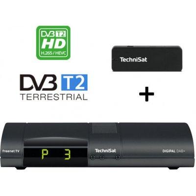 Výhodný set TechniSat Digipal DAB+, antracit + USB WiFi adaptér TELTRONIC ISIO