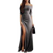 Dámské společenské šaty dlouhé metalcké černá 994d99434e