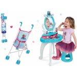 Smoby dětský kosmetický stolek a skládací kočárek Frozen 320214 15