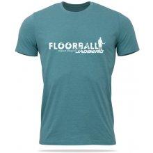 Jadberg Team-Floorball tričko lagoon zelenomodrá