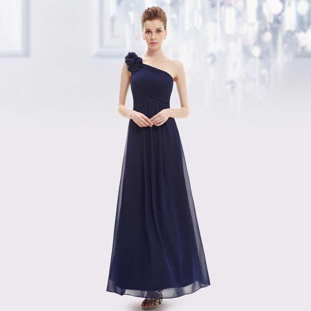 Dlouhé šaty na 1 rameno tmavě modrá alternativy - Heureka.cz 812e071604c