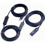 PremiumCord ku3rep15 USB 3.0 repeater a prodlužovací kabel A/M-A/F, 15m