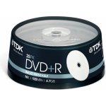 TDK DVD+R 4,7GB 16x, 25ks