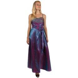 Dlouhé lesklé večerní šaty se zlatou výšivkou 150187 fialová od 875 ... dff8dc90cc