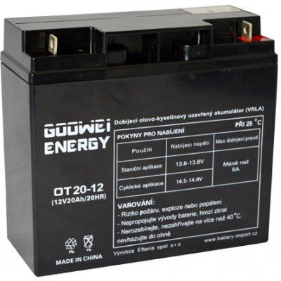Goowei Energy Staniční (záložní) baterie OT20-12, 20Ah, 12V ( VRLA )