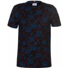 Soviet Floral T Shirt Blue/ Burg